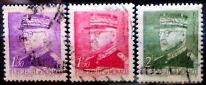 MONACO - 1942- LOT DE 3 TIMBRES - PRINCE LOUIS II - OBLITERE