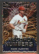 1999 Topps Chrome Record Numbers #RN10 Mark McGwire - NM-MT