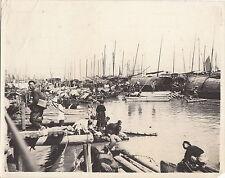 GUANGZHOU (CANTON) CHINA ~ ORIGINAL EARLY WATERWAY HOUSING ~ c. 1910