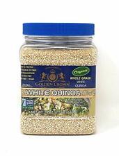 WHITE QUINOA, Organic, Non-GMO with Protein, Fiber, and Iron,Kosher,24 oz