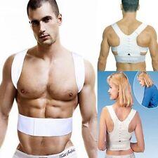 Adjustable Therapy Back Support Brace Belt Band Posture Shoulder Corrector New