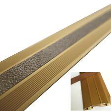 1 m Übergangsschiene Teppichschiene Aluminium gold selbstklebend mit Einlage OX