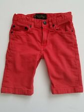 FINGER IN THE NOSE Boys Shorts XL 8 9 Fire Red Nasty Denim Jean French Designer