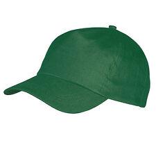 CAPPELLO Cappellino VERDE con VISIERA Precurvata BASEBALL Unisex CAP Golf SPORT