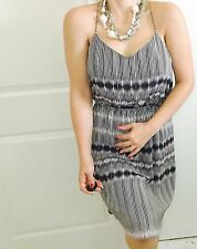 WITCHERY DESIGNER STRIPED LINED DRESS SZ 12
