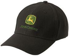 Genuine John Deere Black Logo Cap Adult Hat Tractor MCJ099399025