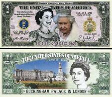 USA Commemorative QUEEN ELIZABETH II Million Dollar Note MINT CRISP in SLEEVE