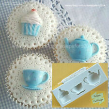 Tea Party, teapot, tea cup, cupcake silicone mold for chocolate, resin fondant