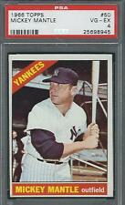 1966 TOPPS 50 MICKEY MANTLE YANKEES PSA 4 VG/EX