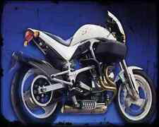 Buell S1 White Lightning 2 A4 Metal Sign moto antigua añejada De