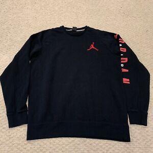 Air Jordan Black and Red Crewneck Jumpman Logo Sweatshirt Mens XLT Tall