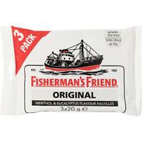 FISHERMAN'S FRIEND Original extra fuerte caramelos Pack 3 x 20 g bolsa 60 g