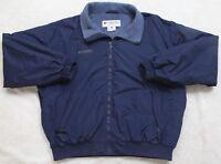 Columbia Sportswear Blue Jacket Coat Extra Large XL Zip Front Nylon Polyester