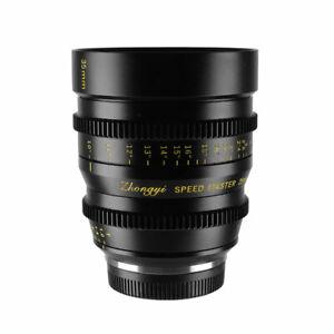 Zhongyi Cine Lens 35mm T1.0 for Micro 4/3 BMPCC MFT G3 GH3 GH4 OM-D E-M5 E-M10