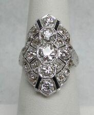 MAGNIFICENT ART DECO ERA PLATINUM & 4.03ct DIAMOND RING SIZE 7 1/2