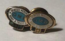2 GMB Genesee Merchants Bank Employee Service Pins Flint MI - 14K Gold 3.1 grams