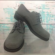 Enzo Angiolini Gray Fabric Dress Oxfords Womens Sz 7 Lace Up Round Toe Shoes