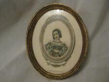 vintage oval picture frame w/ print engraving ? Paris Louis Janet Editeur