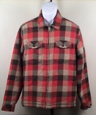 Mens Quiksilver Reversible Jacket - Plaid Flannel to Solid Water-Resistant Large