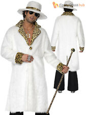 Adults Leopard Skin Pimp Daddy Costume Mens Gangster Fancy Dress 1920s Outfit