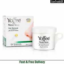 Nose Wax Nasal Hair Removal Kit Yoffee 50g Natural Beeswax Safe Quick Painless