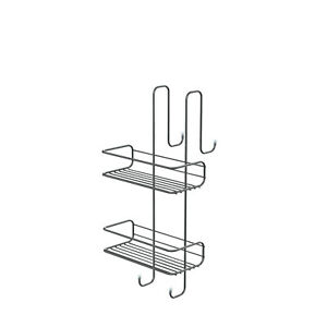Mensola porta oggetti doccia a 2/3 ripiani in acciaio cromato rettangolare Gedy