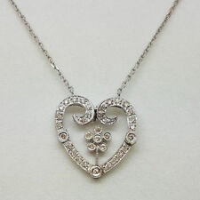 "16 - 17.99"" White Gold SI2 Fine Diamond Necklaces & Pendants"