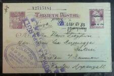 1937 Spain Civil War PS Postcard Censored Cover To Kanton Switzerland