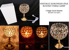 """European Style Round TABLE LAMP 3 stage touch dimmer 9.5"""" x 4.5"""" Bulb Included"""