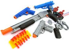 4x Toy Guns! Pump-Action Toy Shotgun, Colt .45 Dart Pistol, Silver & Blue 9MM