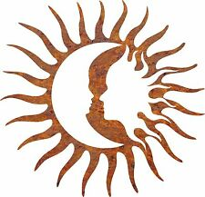 DXF CNC dxf for Plasma Router Clip Art Vector Sun Moon Faces  Wall Art Man Cave