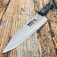 """13.5"""" STAINLESS STEEL CHEF KNIFE WOOD HANDLE Chopper Butcher Full Tang Kitchen"""