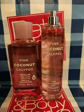 NEW Pink Coconut Calypso Fragrance Mist & Shower Gel Bath & Body Works Set of 2