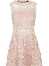 New $190 Topshop Pink Structured Lace Skater Dress Size 10 US