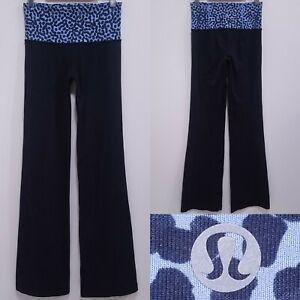 "Lululemon GROOVE Leopard Animal Print Leggings Size 6 Small Pants 33"" Inseam"