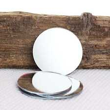 4 x Round Coffee Tea Cup or Wine Glass Mirror Coaster Place Mat Hand Bag Mirror