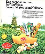 PUBLICITE ADVERTISING 124  1975  VAN MELLE   bonbons de HOLLANDE