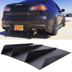 For MITSUBISHI Lancer EVO X Rear Diffuser 4 Fins Bumper Spoiler Splitter Lip A+