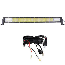 32inch 4 Rows Curved Led Work Light Bar Combo+Wiring Kit For Truck Boat Tractor