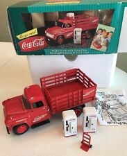 1957 Chevrolet Coca Cola Vending Farm Stake Truck ERTL Model Die Cast Metal  NIB