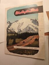 47 page 1950's travel brochure of Washington stat many pic's