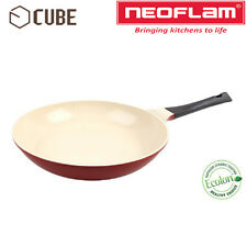 [NEOFLAM]ECOLON Coating Cube 30cm Fry Pan Deep Red Non-stick Natural Coating
