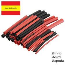 42 Uds termo retractil termoretráctil color rojo y negro funda para cable