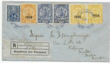 Paraguay 1912 - Registered Letter to Palermo