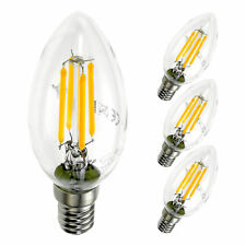 4er E14 4W LED Lampe Filament Birne Leuchtmittel 400 Lumen 3000K warmweiß Kerze