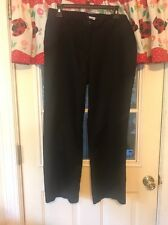 McDONALD'S UNIFORM APPAREL COLLECTION WOMENS BLACK PANTS SIZE 12 LENGTH 28