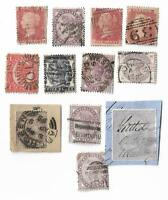 UK Queen Victoria stamps x 12, UK & Empire (All damaged) Batch 5