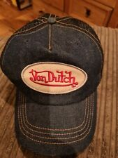 Von Dutch Denim Berretto Da Baseball kustommade ORIGINALE RARISSIMO CONDIZIONI FANTASTICHE