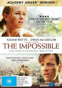 The Impossible : Naomi Watts : NEW DVD