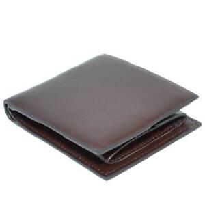 Portafoglio da uomo in pelle marrone porta documenti carte di credito banconote